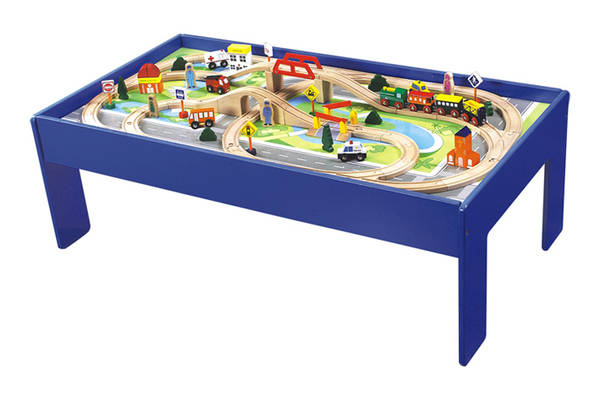 96001 80pcs train set with table
